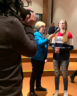 Randi Weingarten with community members in Lordstown, OH